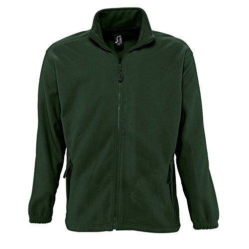 Sols Herren Outdoor Fleece Jacke North (4XL) (Wald Grün)
