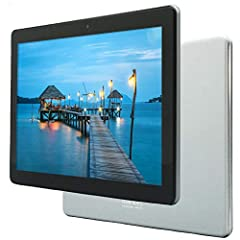 ► GET 3 FREE BONUS ITEMS inside the box - A high quality tablet case, Universal power adaptor and Screen protector (pre-applied) - A total value of $40 ► PREMIUM 10 INCH TABLET with SUPERIOR CPU - High Power MediaTek Quad core processor which boosts ...