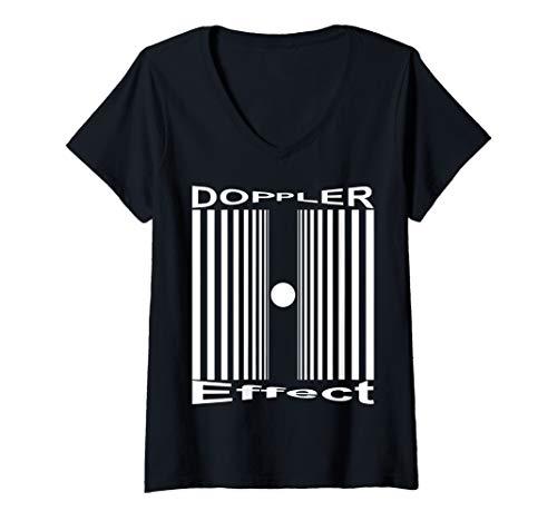 Womens Sheldon Nerdy Doppler Effect Halloween Costume Science Gift V-Neck T-Shirt