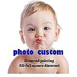 Custom Diamond Painting Personalized Custom Photo 5D Diamond Painting, Private Custom Picture Full Drill Square Diamond Painting for Living Room,Wall Decoration(30x40cm)