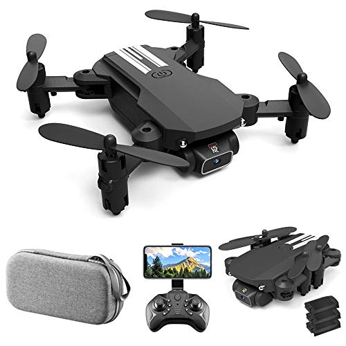 GoolRC Mini Drone for Kids and Adults, LS-MIN RC Quadcopter with 1080P Camera, 360° Flip, Gesture Photo/Video, Track Flight, Altitude Hold, Headless Mode, Include Carry Bag and 3 Batteries (Black)