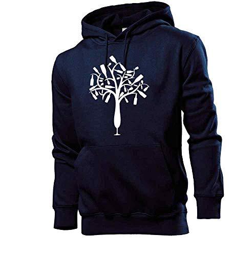 Generisch shirt84.de - Sudadera con capucha para hombre, diseño de árbol de botellas de champán azul marino L