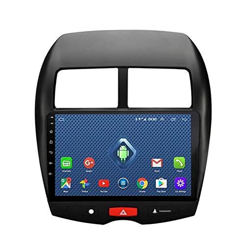 El estéreo del Coche con Pantalla táctil Android 10 admite Llamadas de Voz Bluetooth/USB/navegación GPS/Entrada AUX/FM/WiFi/Mirror Link/cámara de visión Trasera/SWC, para Mitsubishi A