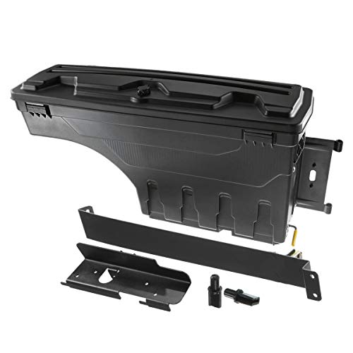 A-Premium Truck Bed Storage Box Tool Box Compatible with Toyota Tundra 2007-2020 Pickup Rear Right Passenger Side