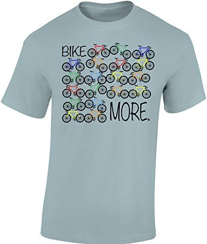 Fahrrad T-Shirt: Bike More - Rad Geschenke für Damen & Herren Mann Männer Frau-en - Fixie Retro Pop Art Radfahrer Mountain-Bike MTB BMX Velo Rennrad E-Bike Outdoor Sport Urban Streetwear (S)