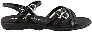 FAMOLARE Women's, Strapsody Sandals Black 10 M