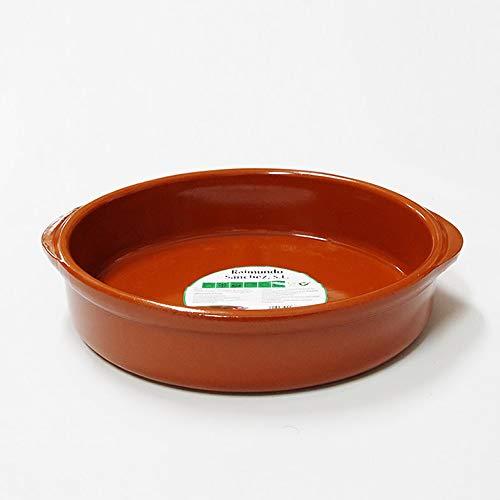 Raimundo - Casseruola in terracotta con manici 26 cm, 2 litri, colore: Miele