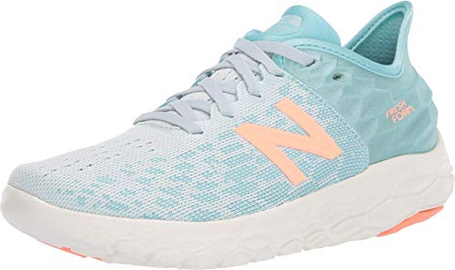 New Balance Women's Fresh Foam Beacon V2 Running Shoe, Camden Fog/Newport Blue, 7.5 M US