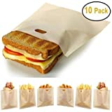 Stephanie Lane - Non-Stick Reusable Toaster Bags (Set of 10) Various Sizes, Create Grilled Cheese...