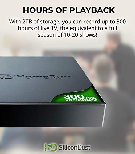 SiliconDust HDHomeRun Servio 2TB OTA DVR Records Up to 300 Hours of Live TV - (HHDD-2TB)