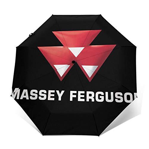 Taschenschirme Augustin Massey Ferguson Unisex Casual Fashion Leichter, zusammenklappbarer, automatischer dreifach gefalteter Regenschirm Tragbarer Sonnenschirm