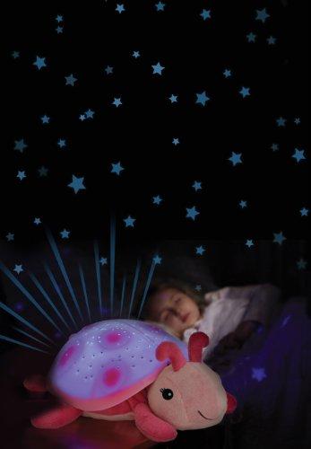 Cloud.B 7353-PK Nachtlicht Marienkäfer, mit Sternenprojektion, Rosa