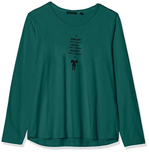 Camiseta para Mujer blue seven Damen-Langarmshirt Von Mit Front-Druck