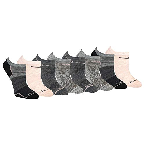 Saucony Women's Performance Super Lite No-Show Athletic Running Socks Multipack, Pink Assorted (8 Pairs), Shoe Size: 5-10