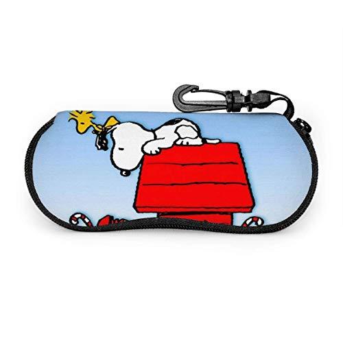 Estuche Para Las Gafas,Snoopy Funda Portátil Caja Para Gafas De Sol,Estuche Plegable De Gafas,Funda De Neopreno Con Cremallera