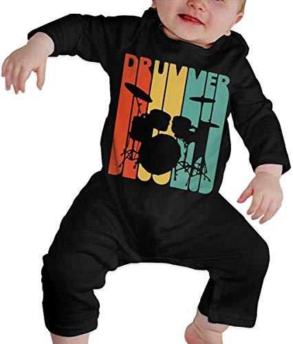 WlQshop Mono para Bebé,Mameluco Bebé Unisex Drumsticks - Vintage Drummer Drummer Toddler Baby Boy Girl Long Sleeve Newborn Baby Bodies