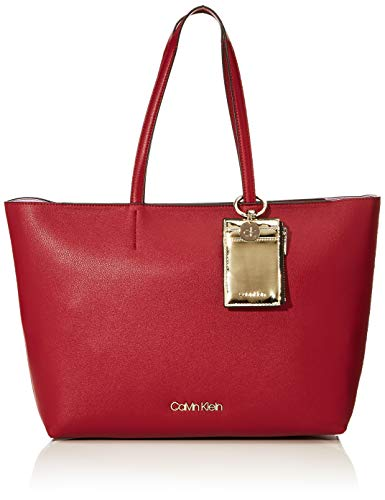 Calvin Klein Ck Must Psp20 Med Shopper - Borse Tote Donna, Rosso (Tibetan Red), 11x27x39 cm (W x H L)