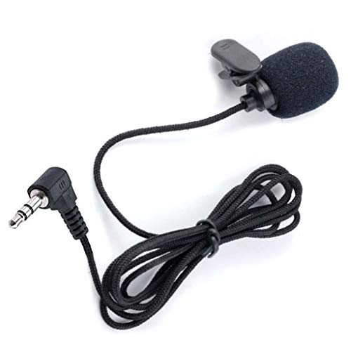 Mic 3.5mm Microphone External Portable Assembly for Car Vehicle Head Unit Bluetooth Enabled Audio Stereo Radio GPS DVD