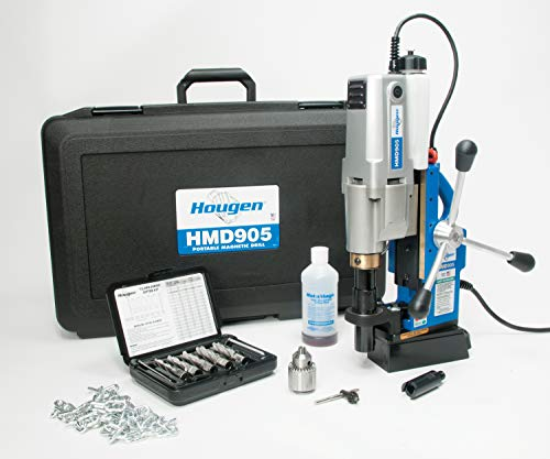 Read About Hougen HMD905S 115-Volt Swivel Base Magnetic Drill with Coolant Bottle Plus 1/2 Drill Ch...
