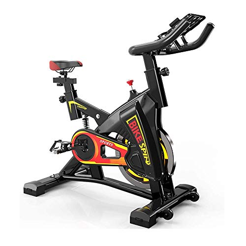 UIZSDIUZ Bicicleta estática con el Movimiento del Rodillo y el Soporte, Ajustable silenciosa Bicicleta estática, Sistema de Estabilización Triangular, for el hogar Cardio Entrenamiento de la Gimnasia