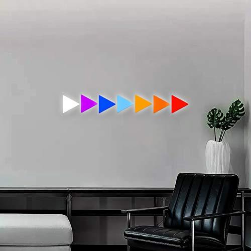 JAKROO Dreieck Smart LED Modular Panels RGB-Farbe Panels Rhythm Music Syncing,für Die Innenbeleuchtung,9 pcs