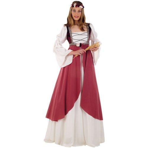 Elbenwald Mittelalter Kostüm, Burg Kleid, Hofdame, Gewand, Damenkostüm inkl. Stirnband - L