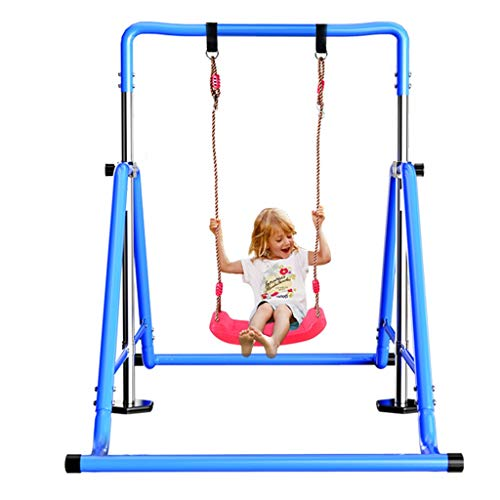 TrainHard Flachbank Haushalt Single Pole Rack-Fitnessgeräte Hang Bar Familie Kinder Schwenkrahmen Faltbare Training Rack-Pull-up-Rack (Color : B, Size : 107 * 195 * 210cm)
