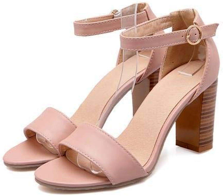 MENGLTX High Heels Sandalen Neue Ankunft Frauen Schuhe Sommer Solide Sandalen High Heels Wei Schwarz Lady Dress Schuhe Gre 34-43
