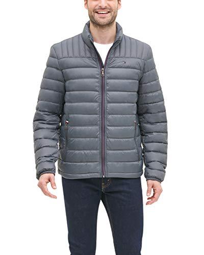 Tommy Hilfiger Men's Big and Tall Ultra Loft Packable Puffer Jacket, charcoal, 3XT