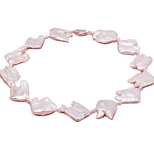 jyx barock perlenkette weiß 25–35 mm Barock-Süßwasser perlen Halskette Perlen Barock