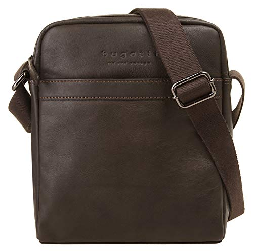 Bugatti Corso Kleine Umhängetasche für Herren Schultertasche Leder, Messenger Bag Kuriertasche, Braun