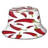 Yoliveya Sombrero de Pesca,Chile de Patrones sin Fisuras,Senderismo para Hombres y Mujeres al Aire Libre Sombrero de Cubo Sombrero para el Sol