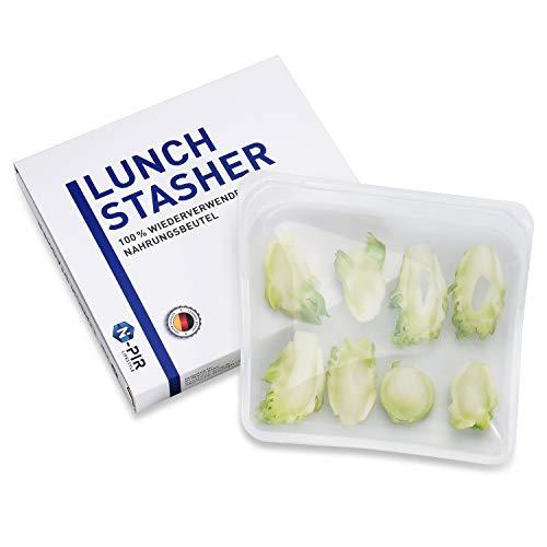 N-PIR Premium Wiederverwendbare Gefrierbeutel I verbessertes Konzept 2020 I Kochbeutel Lebensmittelbeutel Lunchbox Brotdose aus Silikon I Frische Beutel 2.0 für Kinder und Arbeit