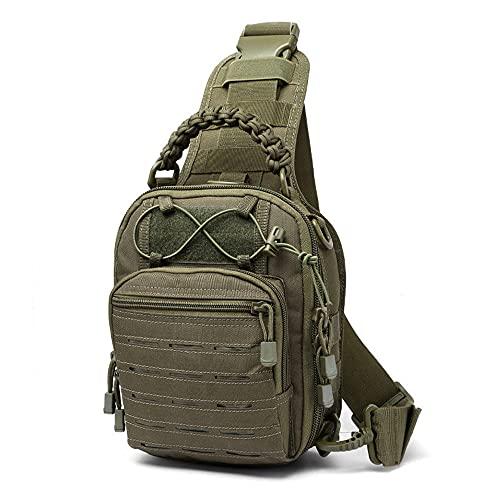 JJBKT Men's Laser Tactical Bag Molle Camping Backpack with Hunting Bag Sports Chest Shoulder Bag Military Bag