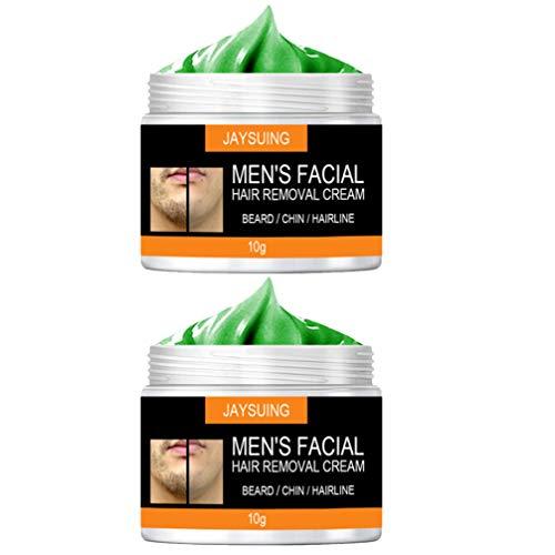FRCOLOR 2 Bottles Facial Hair Removal Cream Mild Men Beard Remover...