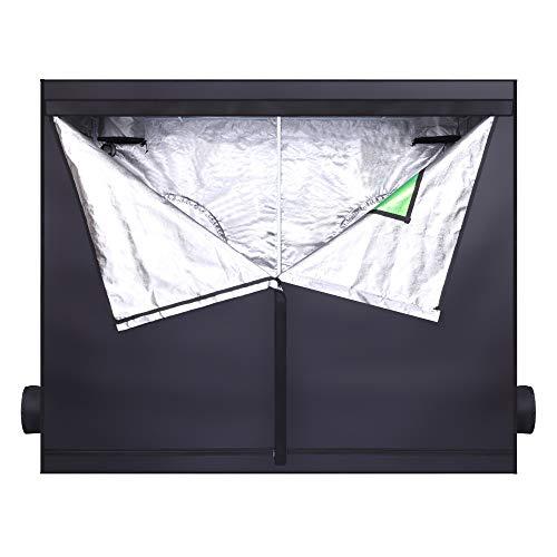 Growing Tent with Window Green & Black, Home Use Dismountable Hydroponic Plant Tent, Lightproof and Tearproof Canvas| Waterproof Indoor Tent (94.48 x 47.24 x 78.74')