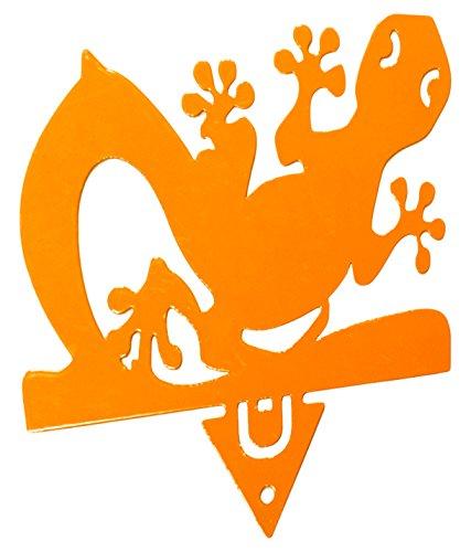 Alubox Zampirino Porta Spirale Antizanzare da Piantare Geco, Arancione, 0.05x12x13 cm