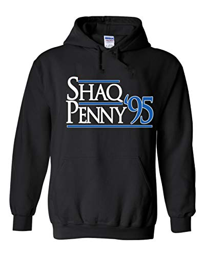 Black Orlando Shaq Penny 95' Hooded Sweatshirt Adult
