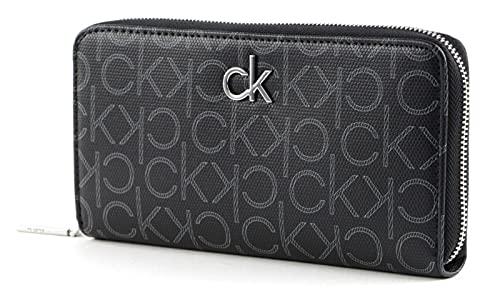 Calvin Klein Slim Zip Around Wallet Black Mono