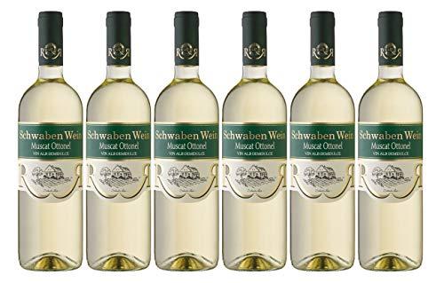 """Cramele Recas   SCHWABEN WEIN Muscat Ottonel – Weißwein lieblich aus Rumänien   Weinpaket 6 x 0,75 L + 1 Kugelschreiber""""Amigo Spirits"""" gratis"""