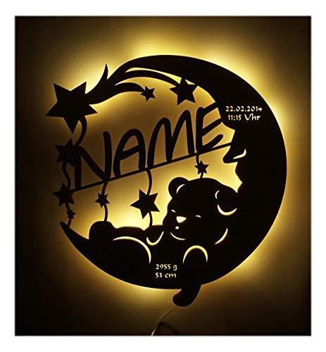 Led Lampe personalisiert Babygeschenk Sweet Dream Taufgeschenke Geschenke zur Geburt Kommunion Taufe Geschenk mit Namen individuell Junge Mädchen Jungs