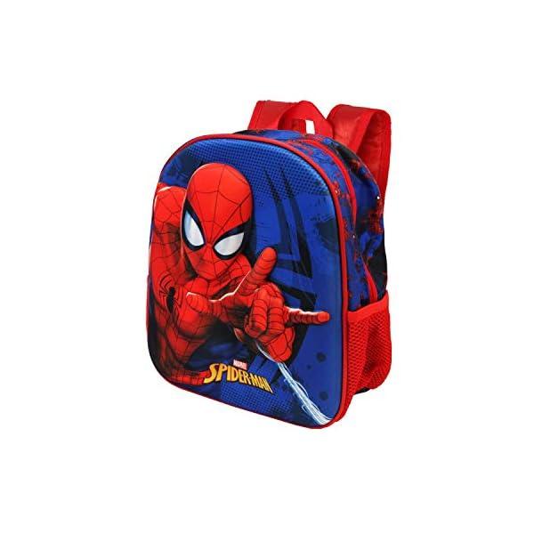 41+XihmNYHL. SS600  - Karactermania Spiderman Crawler - Mochila 3D Pequeña, Multicolor