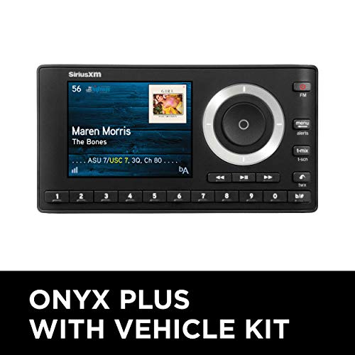 SiriusXM SXPL1V1 Onyx Plus Satellite Radio with Vehicle Kit with Free 3 Months Satellite and Streaming Service, Onyx Plus with Vehicle Kit