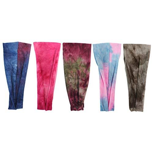 Lurrose 5 diademas elásticas de yoga para el cabello, para deportes, diadema, color caramelo (mezcla de colores)