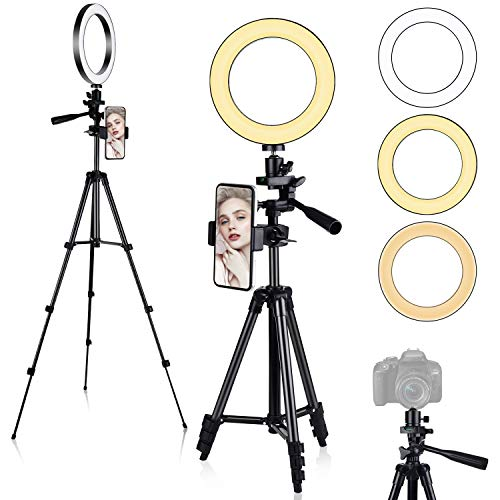 Diyife Luce ad Anello LED, [Ultima Versione] Luce LED Ad Anello con Treppiedi Luce TIK Tok LED Anello Treppiedi Luce per Selfie 3 modalità 11 Livelli di Luminosità per TIK Tok Youtube Foto Video