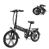 SAMEBIKE 20LVXD30-II Versione di Aggiornamento 350W 48V 10.4AH Bici Elettrica da 20 Pollici Ruota Pieghevole Bicicletta Elettrica per Adulti (Nero)
