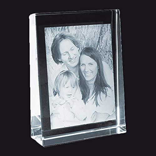 MyPrezzie 2D Glasfoto - Ihr Foto im Glas gelasert - Fotogeschenk aus Glas mit Dein Foto (60 x 80 mm (Hoch))