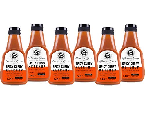 GOT7 Nutrition - Premium Saucen 6er Box SPICY Curry Ketchup