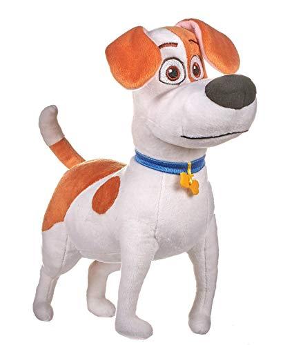 Mascotas (The Secret Life of Pets 2) - Peluche Max, perro blanco con manchas marrones 29 cms. - Calidad Super Soft - PRECIO POR MODELO (De pie)