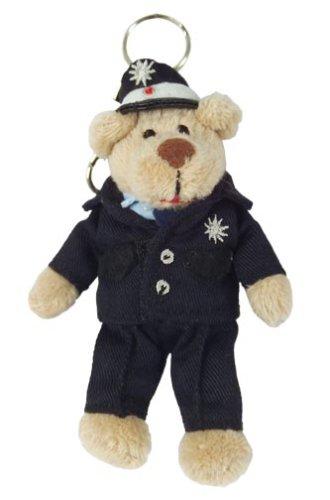 TipTopToys Berufeteddy Polizist mit Schlüsselanhänger, 10 cm